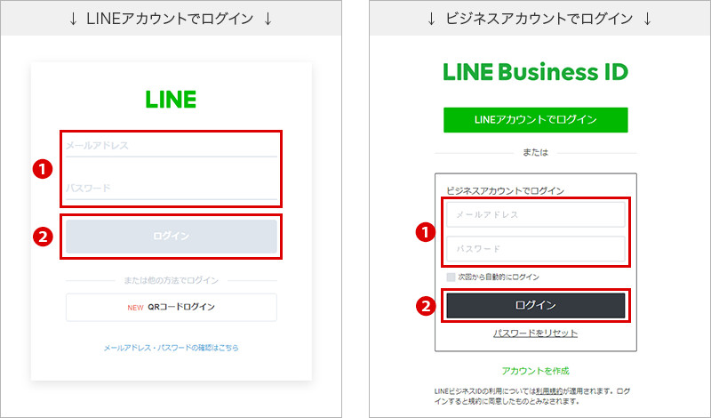 LINE公式アカウントログイン方法